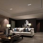 现代简约风格客厅吊顶射灯设计
