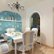 地中海风格餐厅灯饰效果图
