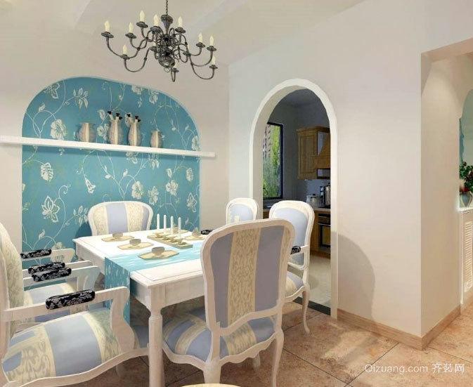 不仅仅是吃饭:地中海风格家庭餐厅装修效果图