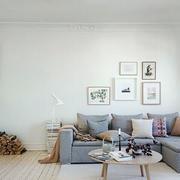 后现代风格客厅简约灰色浅色沙发装饰