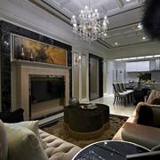 美式深色系客厅布置