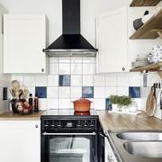 混搭风格公寓L型厨房装饰