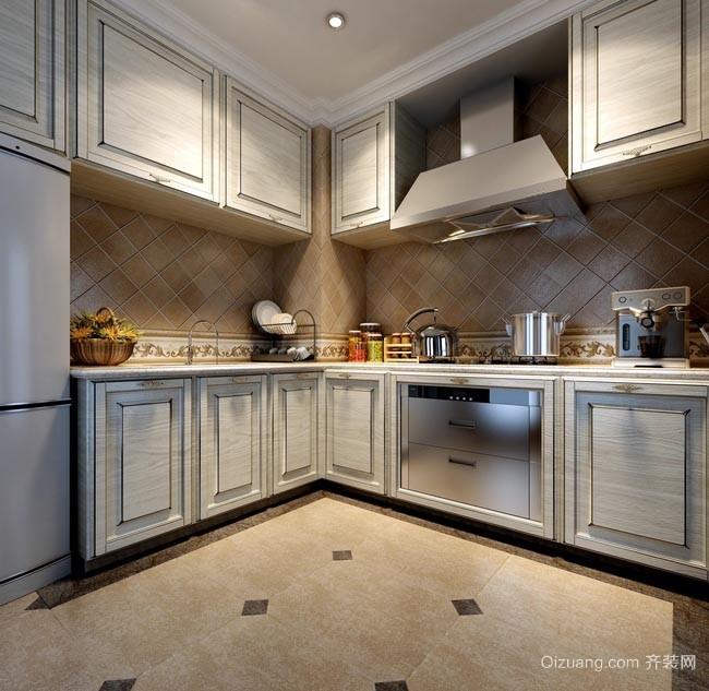 弥补缺陷:10平米小户型时尚家居厨房橱柜装修效果图