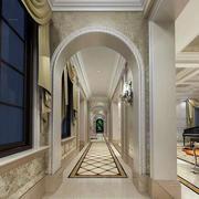 欧式简约风格过道拱形门设计