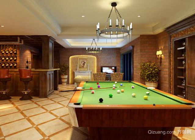 合理布局:180平米别墅地下室装修效果图
