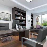 现代简约风格办公室背景墙
