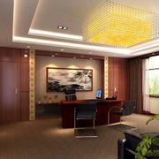 欧式奢华深色办公室背景墙