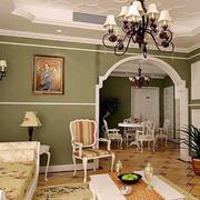 欧式田园风格客厅背景墙设计