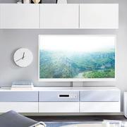 简约白色电视背景墙装饰