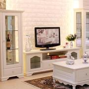 韩式清新客厅电视柜设计