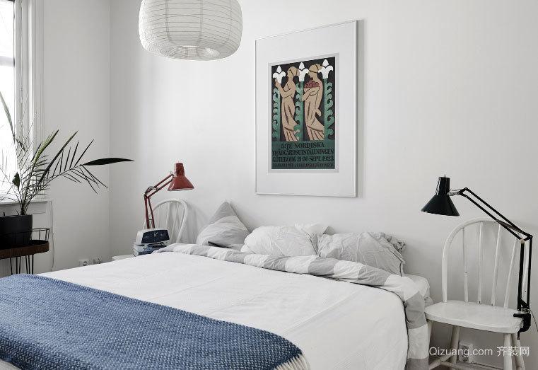 120平米北欧风格浅色唯美两居室装修效果图