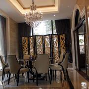 欧式餐厅屏风隔断设计