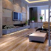 大型客厅原木浅色地板