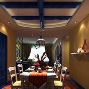 公寓清新蓝色地中海风格餐厅装修