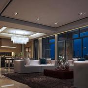后现代风格客厅黑白色吊顶