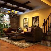 东南亚风格客厅背景墙装饰