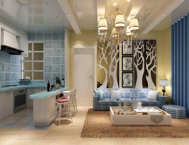 为您打造公主般的清新地中海风格厨房装修效果图