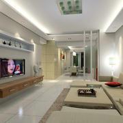两室一厅简约电视背景墙
