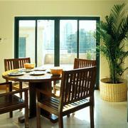 东南亚风格阁楼原木餐厅桌椅