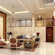 小复式楼客厅楼梯设计