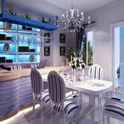 地中海风格餐厅软质桌椅
