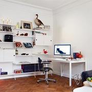 现代简约风格书房置物架