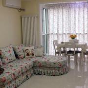 韩式田园风格小碎花客厅沙发设计