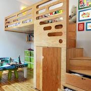 儿童房原木材料地板装修