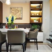 简约风格餐厅桌椅装饰