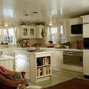 美式开放性厨房效果图