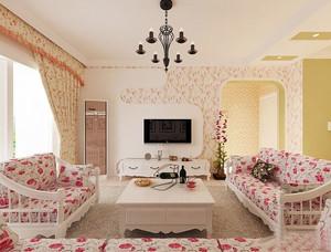 田园风格客厅沙发设计