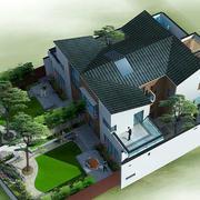中式庭院式别墅设计
