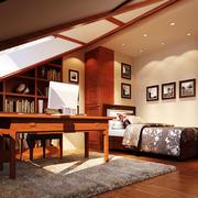 原木设计阁楼吊顶装饰