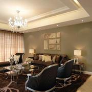 美式水晶样式客厅吊顶灯饰