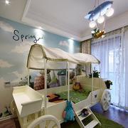 美式创意车饰儿童房床