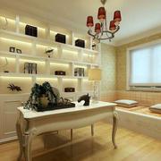 欧式简约书房榻榻米设计