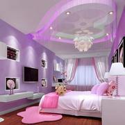 浅紫色卧室吊顶设计