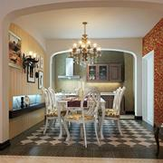 美式奢华风格餐厅装饰