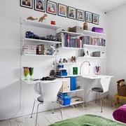 两室一厅简约书房书架装修
