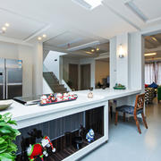 后现代风格客厅吊顶设计