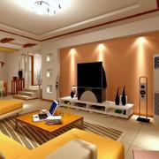 新中式客厅家居沙发效果图