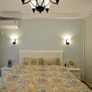 欧式田园风格卧室床头背景墙