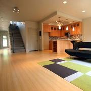 现代简约风格复式楼客厅地板设计