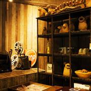 老房客厅置物架装饰
