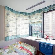 韩式简约风格儿童房飘窗设计