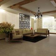 原木系客厅背景墙装饰