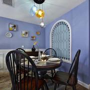 地中海风格餐厅背景墙设计