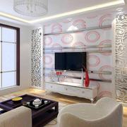 现代简约风格花纹背景墙装修