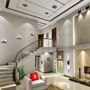 后现代风格复式楼旋转楼梯设计