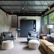 简约风格地下室沙发装饰